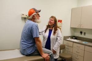 Dr. Deana Brotherton with Patient
