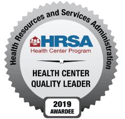 HRSA Health Quality Leader 2019 Awardee Badge