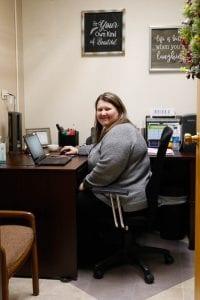 Care Coordinator Jill McMahan in her office