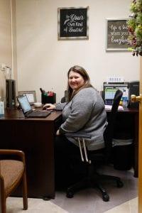 Care Coordinartor Jill McMahan in her office