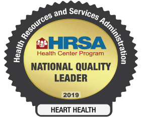 HRSA National Quality Leader 2019 Heart Health Badge